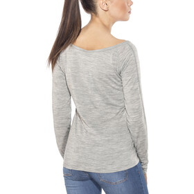 super.natural Scoop Neck LS 175 - Camiseta de manga larga Mujer - gris